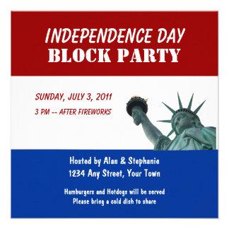Invitaciones de la fiesta de barrio de señora Libe Anuncio Personalizado