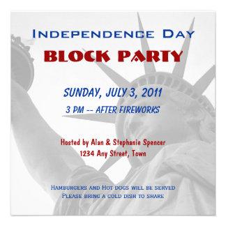 Invitaciones de la fiesta de barrio del Día de la Anuncio Personalizado