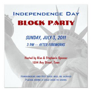Invitaciones de la fiesta de barrio del Día de la Invitación 13,3 Cm X 13,3cm