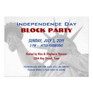 Invitaciones de la fiesta de barrio del Día de la Comunicado Personalizado