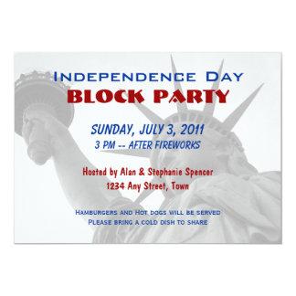 Invitaciones de la fiesta de barrio del Día de la Invitación 12,7 X 17,8 Cm