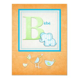 Invitaciones de la fiesta de bienvenida al bebé invitacion personalizada