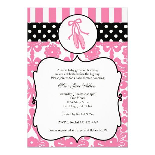 Tutu Invitations For Baby Shower as great invitation layout