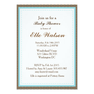 Invitaciones de la fiesta de bienvenida al bebé de invitación 12,7 x 17,8 cm