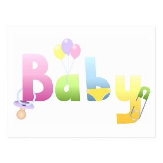Invitaciones de la fiesta de bienvenida al bebé de tarjetas postales