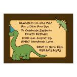 Invitaciones de la fiesta de cumpleaños de DINO Invitación Personalizada