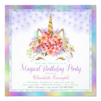 Invitaciones de la fiesta de cumpleaños de la cara