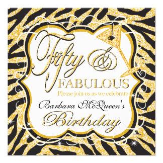 Invitaciones de la fiesta de cumpleaños de la cebr comunicado personalizado