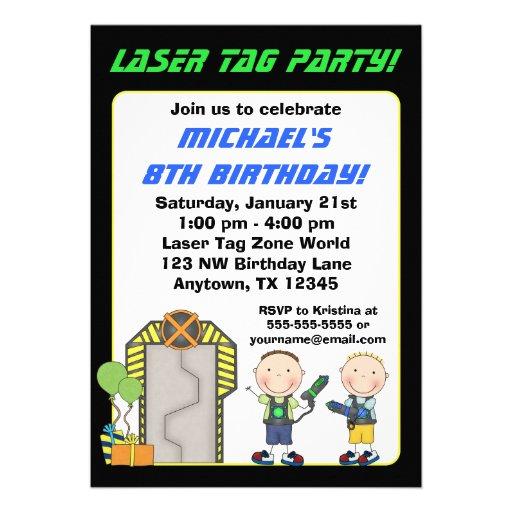 Invitaciones de la fiesta de cumpleaños de la etiq anuncios personalizados