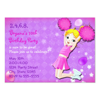 Invitaciones de la fiesta de cumpleaños de la invitación 11,4 x 15,8 cm