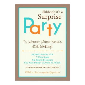 Invitaciones de la fiesta de cumpleaños de la invitación 12,7 x 17,8 cm