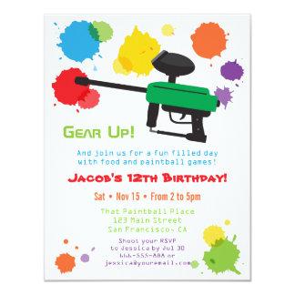 Invitaciones de la fiesta de cumpleaños de los invitación 10,8 x 13,9 cm