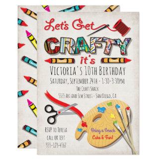 Invitaciones de la fiesta de cumpleaños del arte