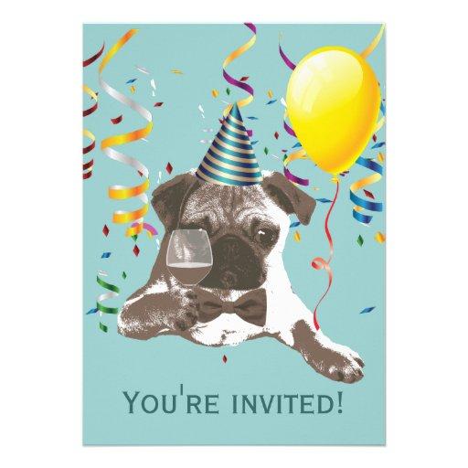 Invitaciones de la fiesta de cumpleaños del barro  invitaciones personalizada