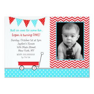 Invitaciones de la fiesta de cumpleaños del carro invitación 12,7 x 17,8 cm