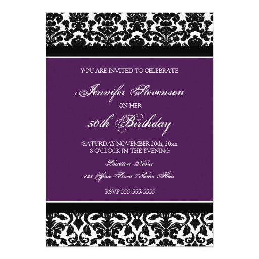 Invitaciones de la fiesta de cumpleaños del damasc anuncios