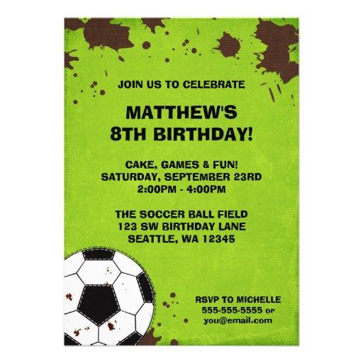 Invitaciones de la fiesta de cumpleaños del fango  anuncios personalizados