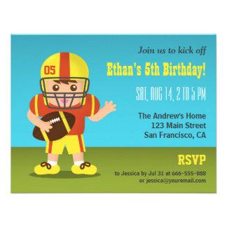 Invitaciones de la fiesta de cumpleaños del fútbol