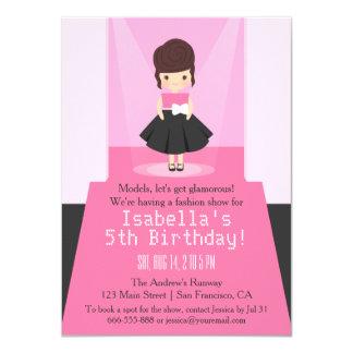 Invitaciones de la fiesta de cumpleaños del invitación 11,4 x 15,8 cm