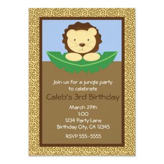 Invitaciones de la fiesta de cumpleaños del león invitación 11,4 x 15,8 cm