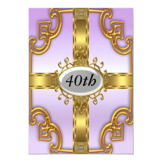 Invitaciones de la fiesta de cumpleaños del oro de invitación 12,7 x 17,8 cm