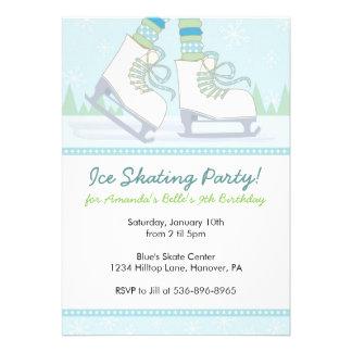 Invitaciones de la fiesta de cumpleaños del patina invitacion personal