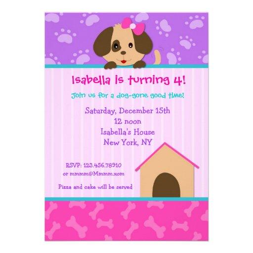 Invitaciónes de cumpleaños con perros - Imagui