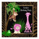Invitaciones de la fiesta de cumpleaños del safari invitacion personalizada