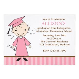 Invitaciones de la fiesta de graduación del chica invitación 12,7 x 17,8 cm