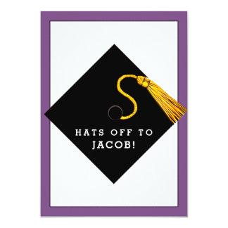 Invitaciones de la fiesta de graduación invitación 12,7 x 17,8 cm