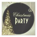 Invitaciones de la fiesta de Navidad, árbol de Invitación 13,3 Cm X 13,3cm