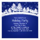 Invitaciones de la fiesta de Navidad azules y Comunicado Personal