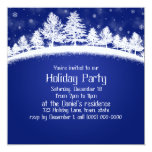 Invitaciones de la fiesta de Navidad azules y Invitación 13,3 Cm X 13,3cm