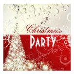 Invitaciones de la fiesta de Navidad, burbujas del Comunicado