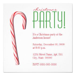 Invitaciones de la fiesta de Navidad del bastón de Invitación 13,3 Cm X 13,3cm