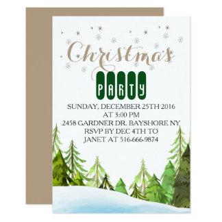 Invitaciones de la fiesta de Navidad del país de Invitación 8,9 X 12,7 Cm