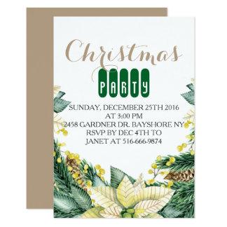 Invitaciones de la fiesta de Navidad Invitación 8,9 X 12,7 Cm