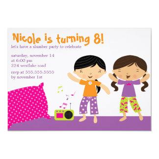 Invitaciones de la fiesta de pijamas invitación 12,7 x 17,8 cm