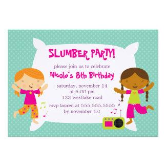 Invitaciones de la fiesta de pijamas