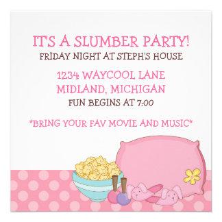 Invitaciones de la fiesta de pijamas de los niños anuncio personalizado