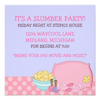 Invitaciones de la fiesta de pijamas de los niños invitación personalizada