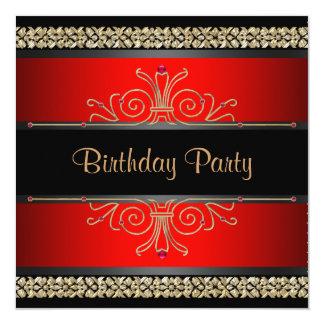 Invitaciones de la fiesta del cumpleaños de la invitación 13,3 cm x 13,3cm