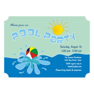 Invitaciones de la fiesta en la piscina de la invitaciones personales