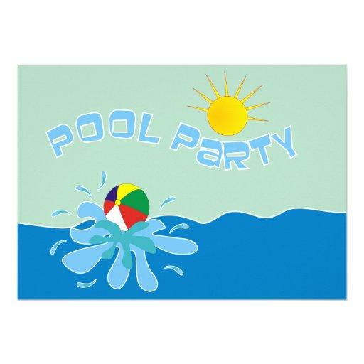 Pool party beach ball clip art