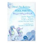 Invitaciones de la fiesta en la piscina del invitacion personalizada
