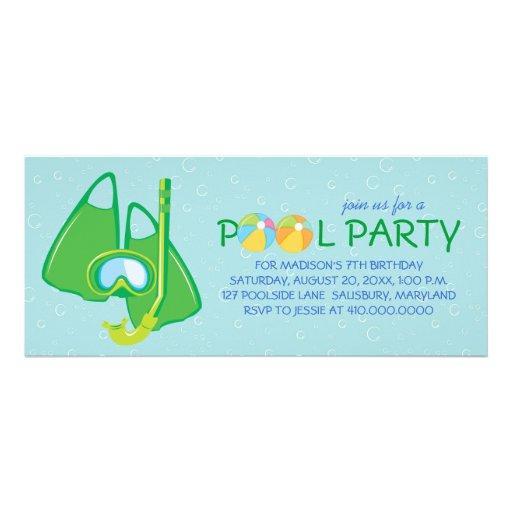 Invitaciones de la fiesta en la piscina del cumple invitación personalizada
