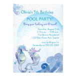 Invitaciones de la fiesta en la piscina del cumple invitacion personalizada
