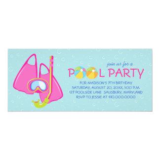 Invitaciones de la fiesta en la piscina del invitación 10,1 x 23,5 cm