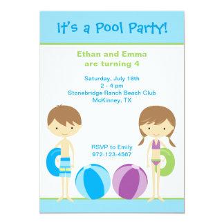 Invitaciones de la fiesta en la piscina invitación 12,7 x 17,8 cm