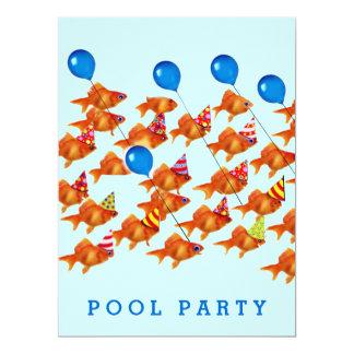 invitaciones de la fiesta en la piscina invitación 16,5 x 22,2 cm